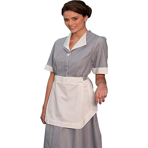 Edwards Womens Junior Cord Housekeeping Dress, TEAL, ...