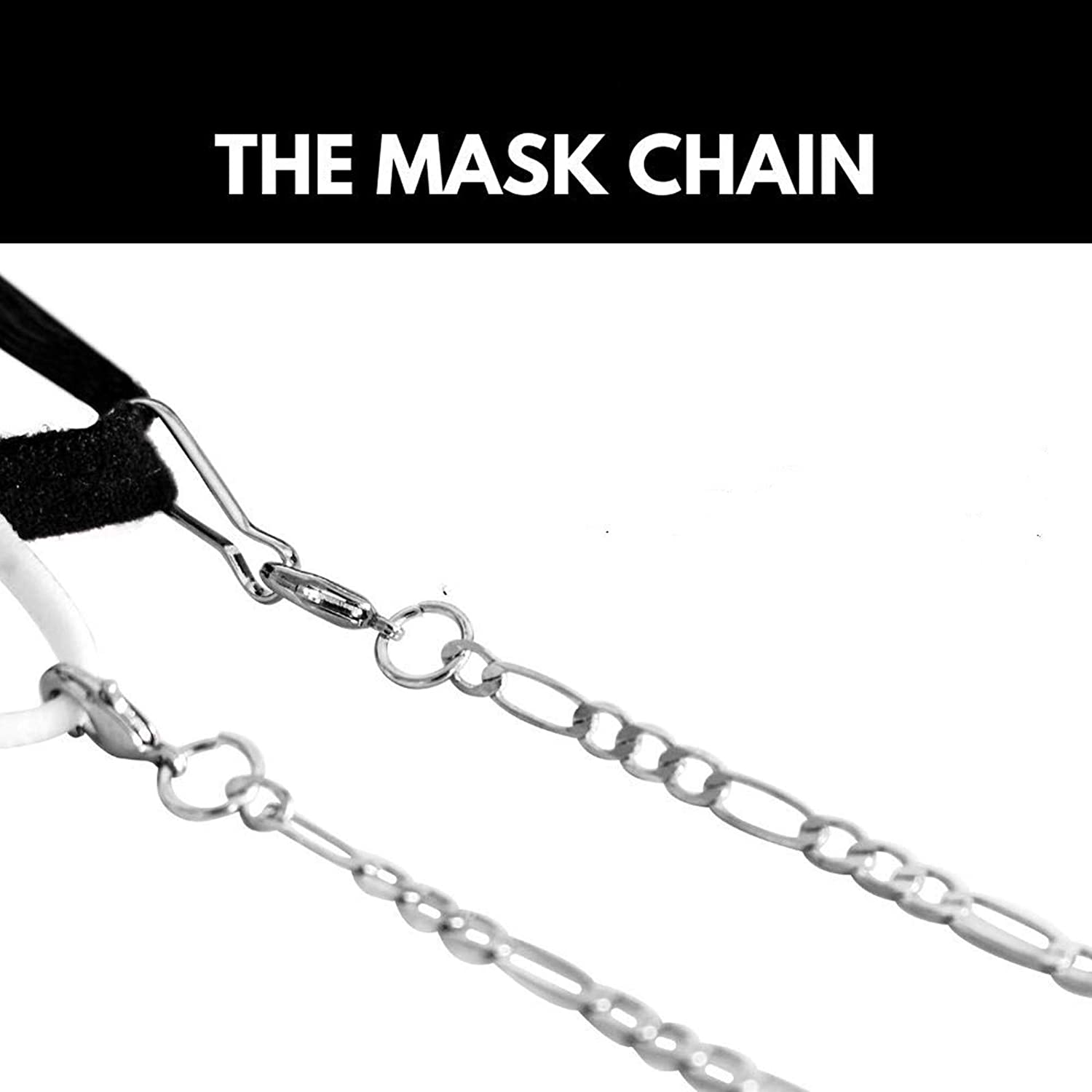 Face Mask Not Included Mask Holder Necklace Chain for Women Mask Strap Chain Stylish with Clip