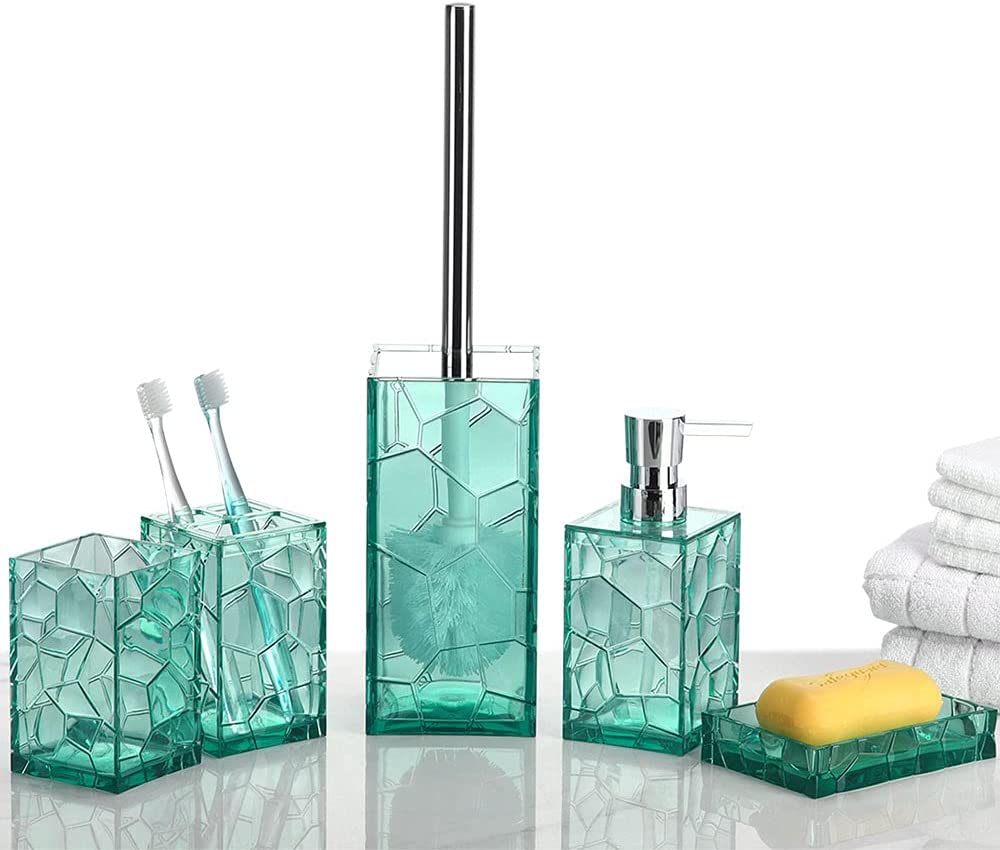 Aksipo Acrylic Bathroom Accessories Set 5 Piece Indianapolis Mall Max 64% OFF Vanity