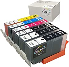 Kolrun 5 Color Compatible Ink Cartridge for HP 564XL High Yiled, 1 Set+1 Black, 6 pack Used with HP Photosmart 5520 6520 7520 5510 6510 7510 7525 B8550 C6380 D7560 Premium C309A C410 Officejet 4620 De
