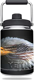 MightySkins Skin Compatible with YETI Rambler Half Gallon Jug - Eagle Eye | Protective, Durable, and Unique Vinyl Decal wrap Cover | Easy to Apply, Remove, and Change Styles | Made in The USA