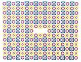 One–pegatinas de Stroke Neon 1736