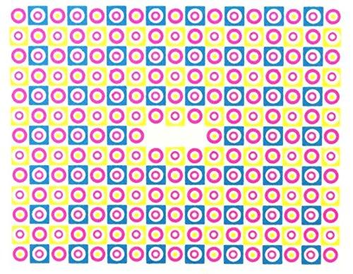 online-hut One-Stroke-Sticker Neon, Viereck, Kreis