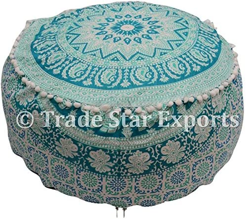 Trade Star Exports Indian All stores are Nippon regular agency sold Ombre Ottoman Pouf Cover Cove Mandala