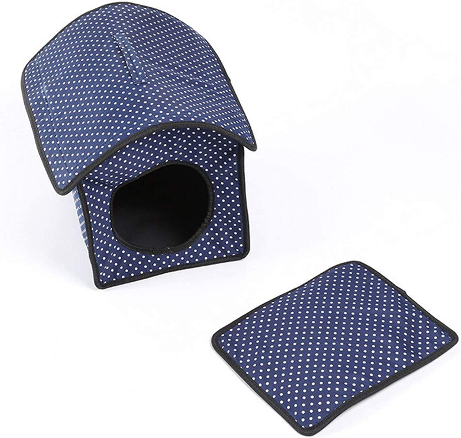 Mzdpp Spring And Summer Pet Lodge House Cat Small Pet Dog Bed Kennel Mat 36  30  35 Cm