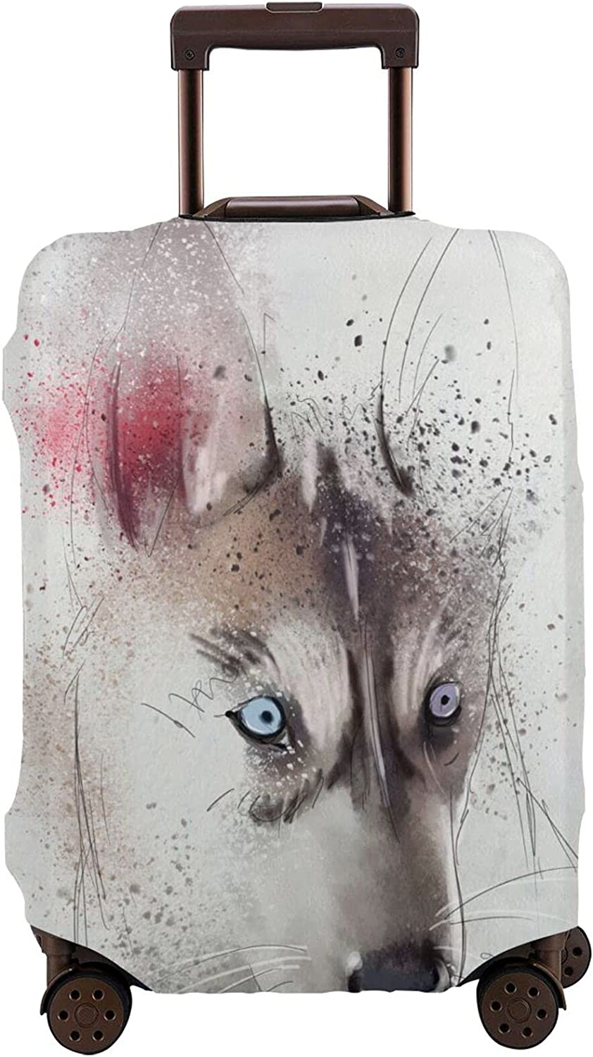 IBILIU Dog Suitcase Cover Protector Free shipping anywhere in Superlatite the nation Black Watercolor Animal