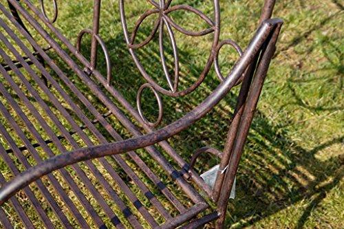 Exklusive Gartenbank Cielo, ergonomische Sitzfläche, Sitzbank in neuem Design und sehr stabiler Metallausführung - 4