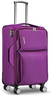 Langxj hj TSAロック搭載 スーツケース ソフトケース 超軽量 AIR6327(solite) ファスナー開閉式 S型国内・国際線機内持込可 5色3サイズ902
