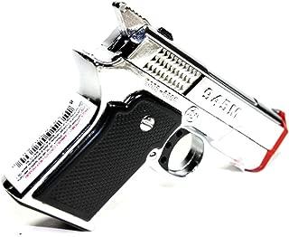 DIYJewelryDepot Silver Pistol Gun Twin Torch Lighter Refillable Cigar Cigarette Stove Miniature Lighters
