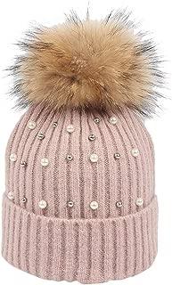 WILLBE New Knitted Hat Women Girls Keep Warm Winter Hairball Wool Hemming Ski Hat Crochet Hairball Beanie Cap Pompom Hat