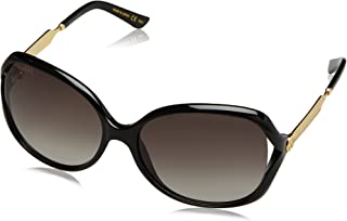 Gucci Women 0076S 60 Black/Grey Sunglasses 60mm