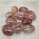 U/D. Natürlicher Edelstein Rot Heiler Palm Kristall Heilsteine Für Garten Dekoration Stein Kristalle (Color : Natural, Size : Around50-70mm)