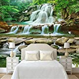 HCWYQ Fototapete Tapeten DIY Wasserfälle Naturlandschaft Für Büro Schlafzimmer (W) 500X(H) 280Cm