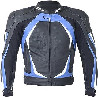 RST Blade II 1845 Leather Motorcycle/Motorbike Sports Jacket - Blue L