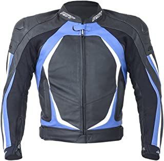 RST Blade II 1845 Leather Motorcycle/Motorbike Sports Jacket - Blue L