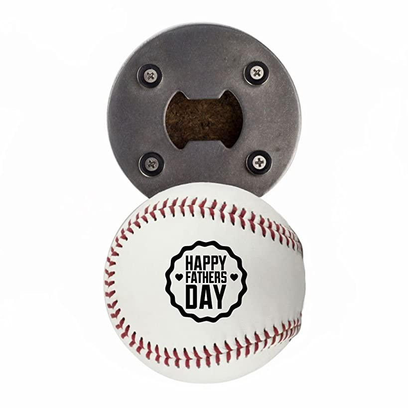 Father's Day Baseball Gift, Bottle Opener made from a real Baseball, Happy Father's Day, Cap Catcher, Fridge Magnet