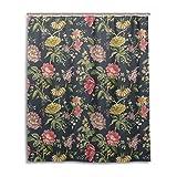 JSTEL-Bade-/Duschvorhang 152,4x 182,9cm, Vintage-Stil, Shabby Chic, Blumenmuster, aus Polyester, schimmelresistent
