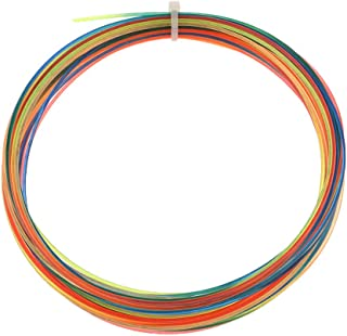 aternee 12m X 1.3mm Tennis Strings Rainbow Line with Stable Tension, Durable, Tennis
