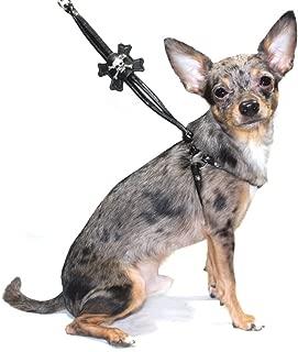 Hip Doggie Skull Step-in Dog Harness in Black