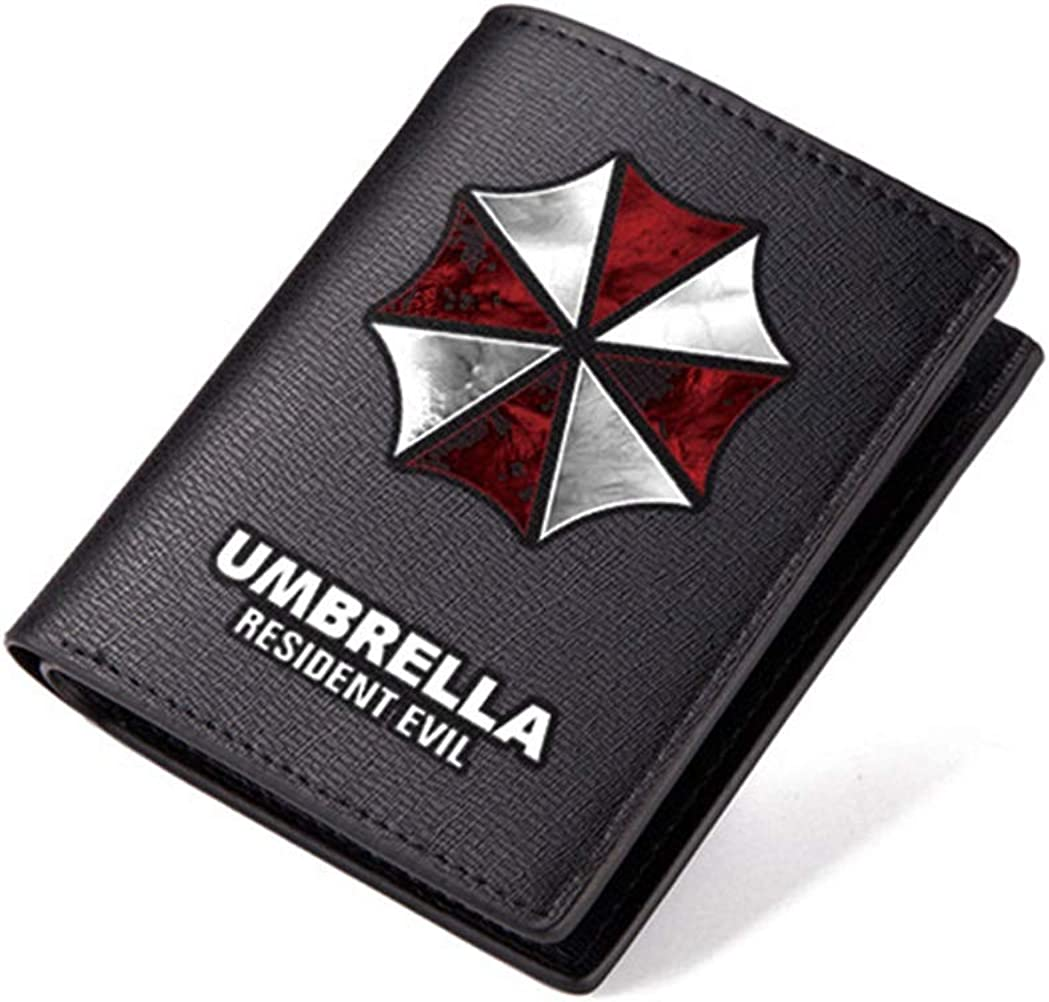Resident Evil Wallet Umbrella Black PU leather Purse ID Window Card Money Clip RFID Blocking