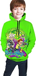 Ti_ny Pock_et Rick Funny and Good-Looking Teen Hooded Sweate Jacket Black Comfortable Classic Boy and Girl Unisex-Baby