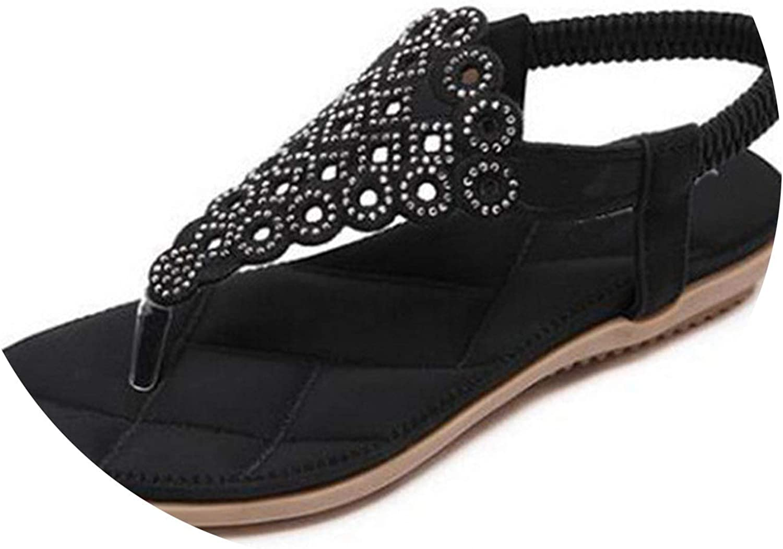 Women Blossom Bohemian Flat Sand Sandalias Large Size Beach shoes Women Sandals