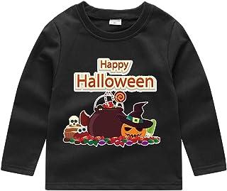 Toddler Baby Kids Boys Girls Sweatshirt Pullover, Halloween Pumpkin Tops T-Shirt(1-5Years)