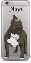 CodeiCases iPhone 5/5s/5SE Pitbull Dog With Custom Name Clear Cover, Dog With Name Case Clear Transparent for iPhone