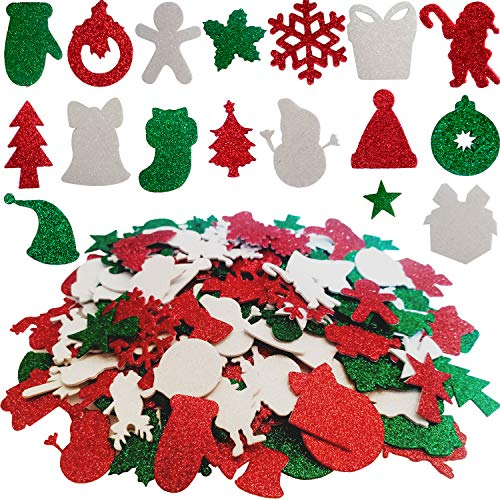 Aflyu 384 Pieces Christmas Foam Stickers Self Adhesive Christams Foam for Christmas Party Craft Decoration …