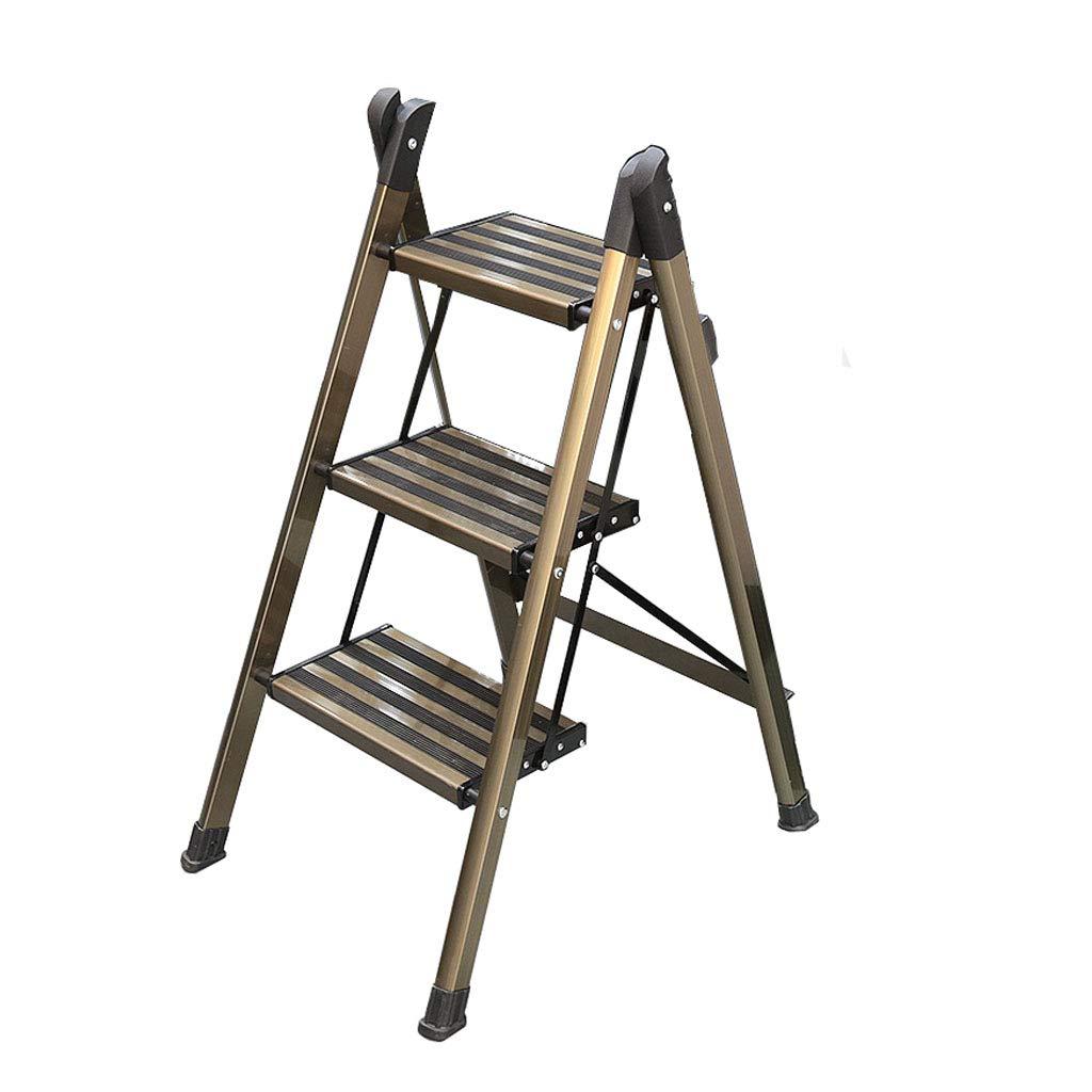 Escalera con peldaños de aluminio Taburete con peldaños Escalera de tijera para casa 3 escalones antideslizantes y barandillas con taburete Taburete con peldaños Banco para niños al aire libre: Amazon.es: Hogar
