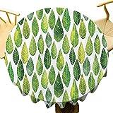 Mantel de Mesa Redondo con diseño de Cisne flotando en un Ojo y Mariposas voladoras, poliéster, Color07, Diameter 55 Inch