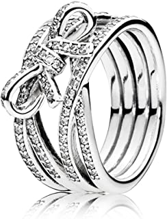Pandora Women's 925 Sterling Silver Delicate Sentiments Ring - 7.5 US, 190995CZ-56