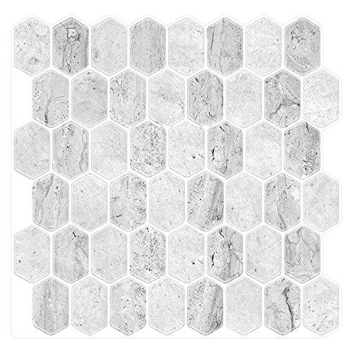 Dandy Haushalte schälen und Stick selbstklebend Duett Aufklebbares Vinyl Wand Fliesen Für Küche und Bad von (Lunar Oberfläche 6Pack)