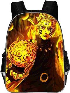 Naruto Mochila de Lona Impresión Digital 3D Naruto School Bag Mochila Aligeramiento Mochila Informal Mochila Impermeable para Mujeres y Hombres