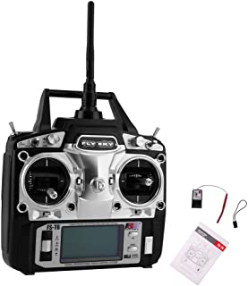 RCmall Flysky FS-T6 High Precision 2.4G 6 Channel 6ch Radio Controller Transmitter and Receiver Kit for RC Helicopter Racing Drone