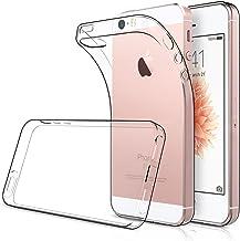 Simpeak [2pcs] 2 Packs Funda para iPhone 5S / SE, Funda iPhone SE Carcasa iPhone 5S / 5 Funda Silicona TPU (4,0 Pulgadas), Transparente