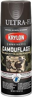 Krylon Camouflage Paint, Ultra Flat, Brown, 11 oz