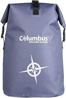 COLUMBUS DB 25 L Mochila Estanca Impermeable Son Sistema de Cierre Enrrollable.Perfecta para Actividades Acuáticas o al Aire Libre. Capacidad de 25 litros, Peso de 0,7 kg, Color Gris
