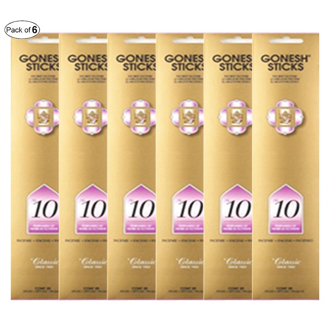 たっぷり解放する混合したGonesh Incense No 10?- Perfumes of Herbs &花( 20?Sticks in 1パック) (パックof 6?)