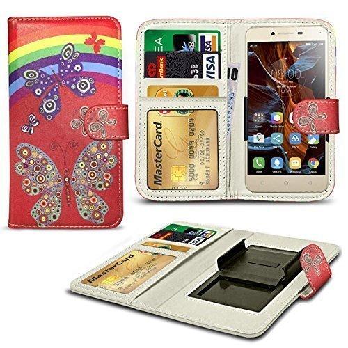 N4U Online® Verschiedene Muster Clip Serie Kunstleder Brieftasche Hülle für Oppo R1 R829T - Regenbogenforelle