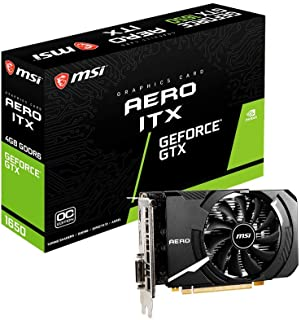 MSI Gaming GeForce GTX 1650 128-Bit HDMI/DP/DVI 4GB GDRR6 HDCP Support DirectX 12 VR Ready OC ITX Graphics Card (GTX 1650 ...