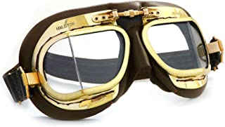 Halcyon Mark 49 Compact Antique Brown Aviator/Motorcycle Goggles