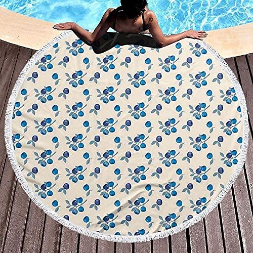 Round Lotus Flower Mandala Tapestry Beach Handduk & Blanket Bordduk Fringe Tassel Beach Blanket Yoga Mat-Color18