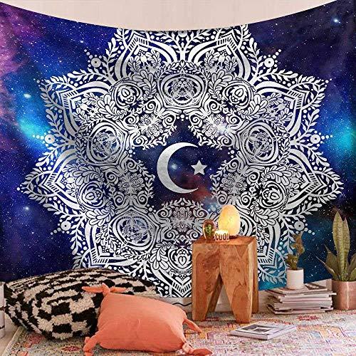 Colgante de decoración del hogar Mandala indio Chakra Sun Moon Farmhouse Transforma el tapiz de la habitación Suministros de ropa de cama montados en la pared 150x200cm / L