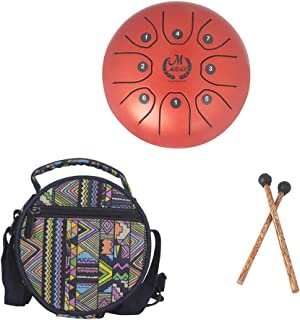 """Joick 5.5"""" Stainless Steel Tongue Buddhism Meditation Percussion Instrument Worry-free Sound Metal Drum Drumsticks Bag"""