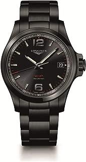 [ロンジン] 腕時計 コンクエスト V.H.P. クォーツ パーペチュアルカレンダー ブラックPVD L3.716.2.56.6 メンズ 正規輸入品