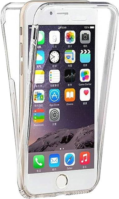 TBOC Funda para Apple iPhone 7 - iPhone 8 (4.7) - Carcasa [Transparente] Completa [Silicona TPU] Doble Cara [360 Grados] Protección Integral Total Delantera Trasera Lateral Móvil Resistente Golpes