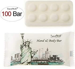 TRAVELWELL Landscape Series Hotel Toiletries Amenities Travel Size Massage Cleaning Soaps 1.0oz/28g, Individually Wrapped 100 Bars per Box