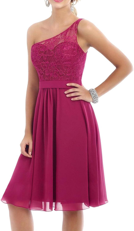 MILANO BRIDE 2016 Short Bridesmaid Dress OneShoulder Lace Homecoming Dress