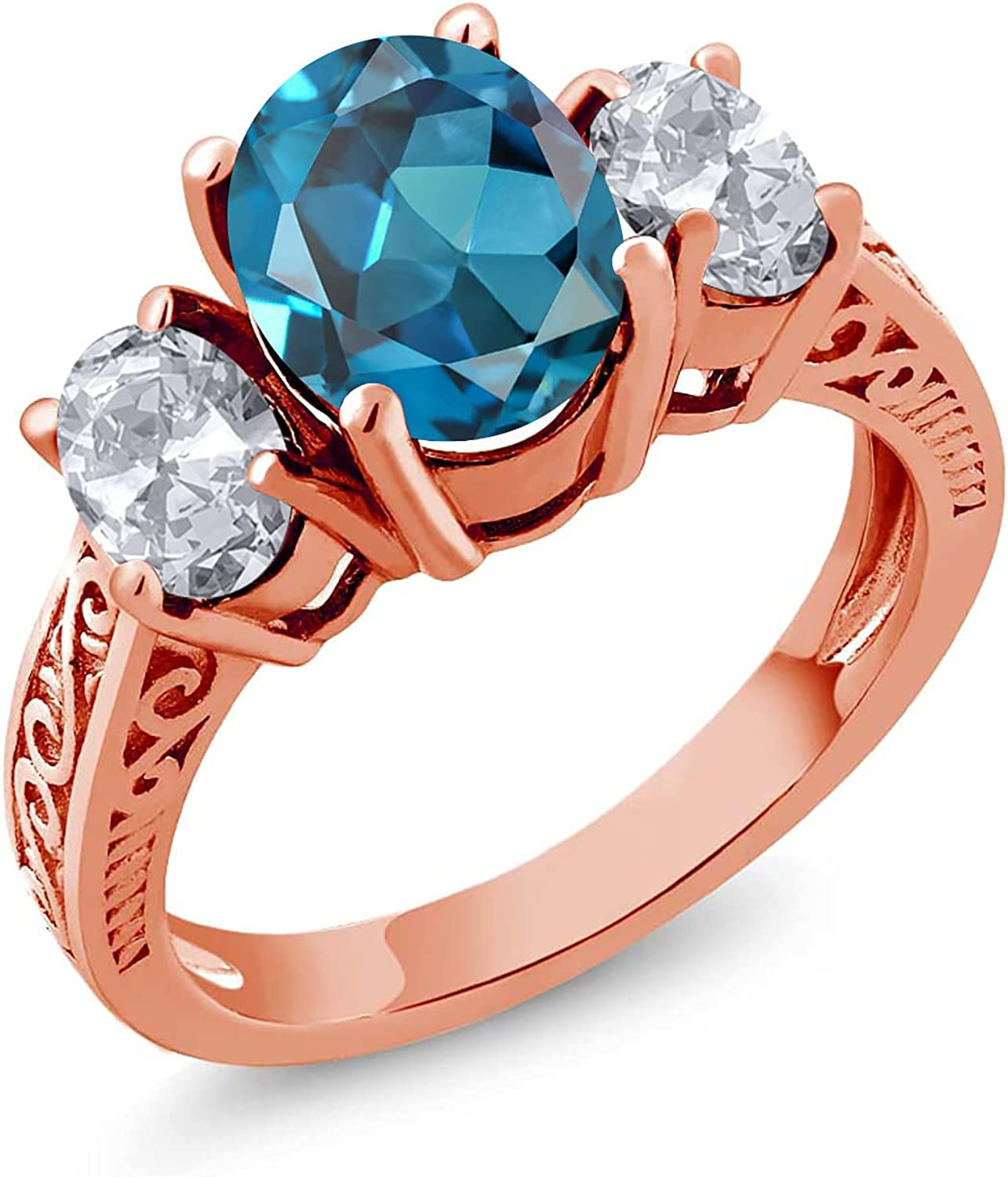 Gem Stone King 2.80 Ct Oval White Sales of SALE items from new works Ro London All items in the store Topaz 18K Blue
